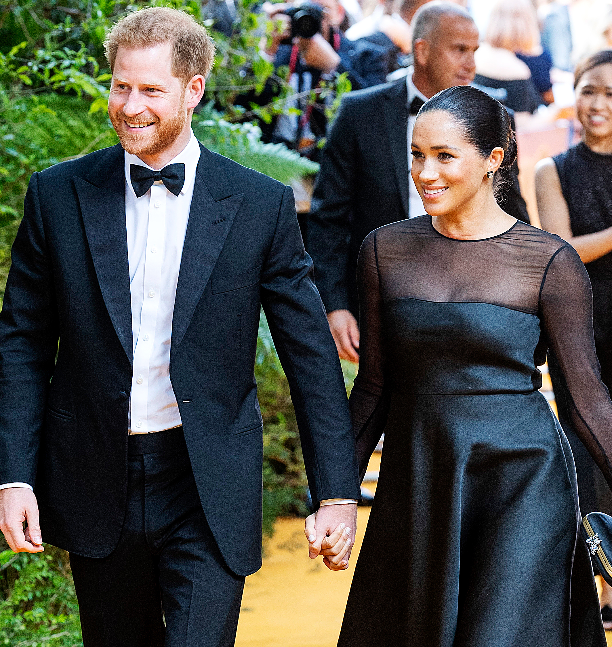 """Prince Harry Duchess Meghan New Foundation Details Revealed - Prince Harry, Duke of Sussex and Duchess Meghan attend """"The Lion King"""" European Premiere at Leicester Square on July 14, 2019 in London, England."""