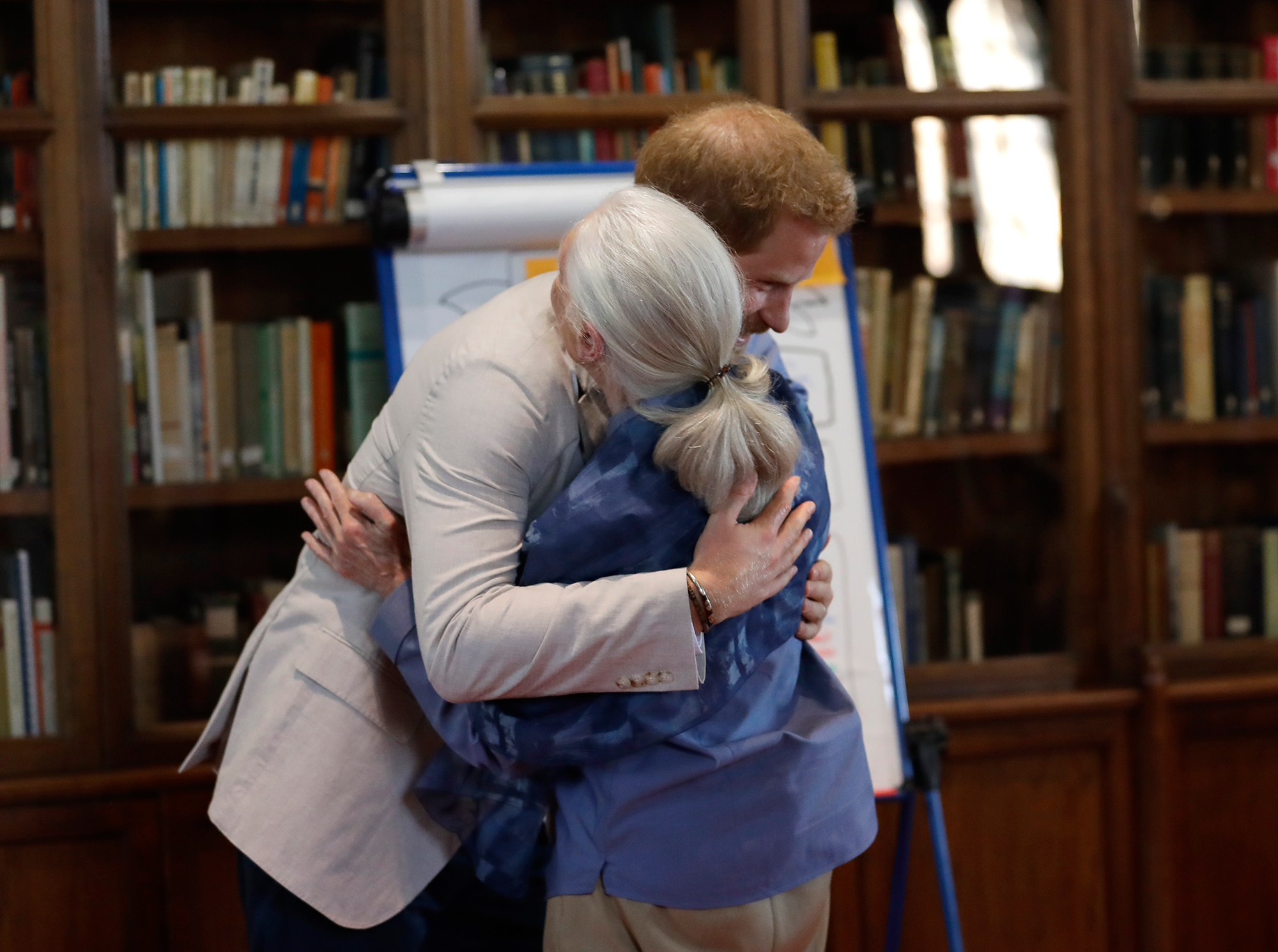 Prince Harry Reenacts a 'Chimp Greeting' with Dr. Jane Goodall