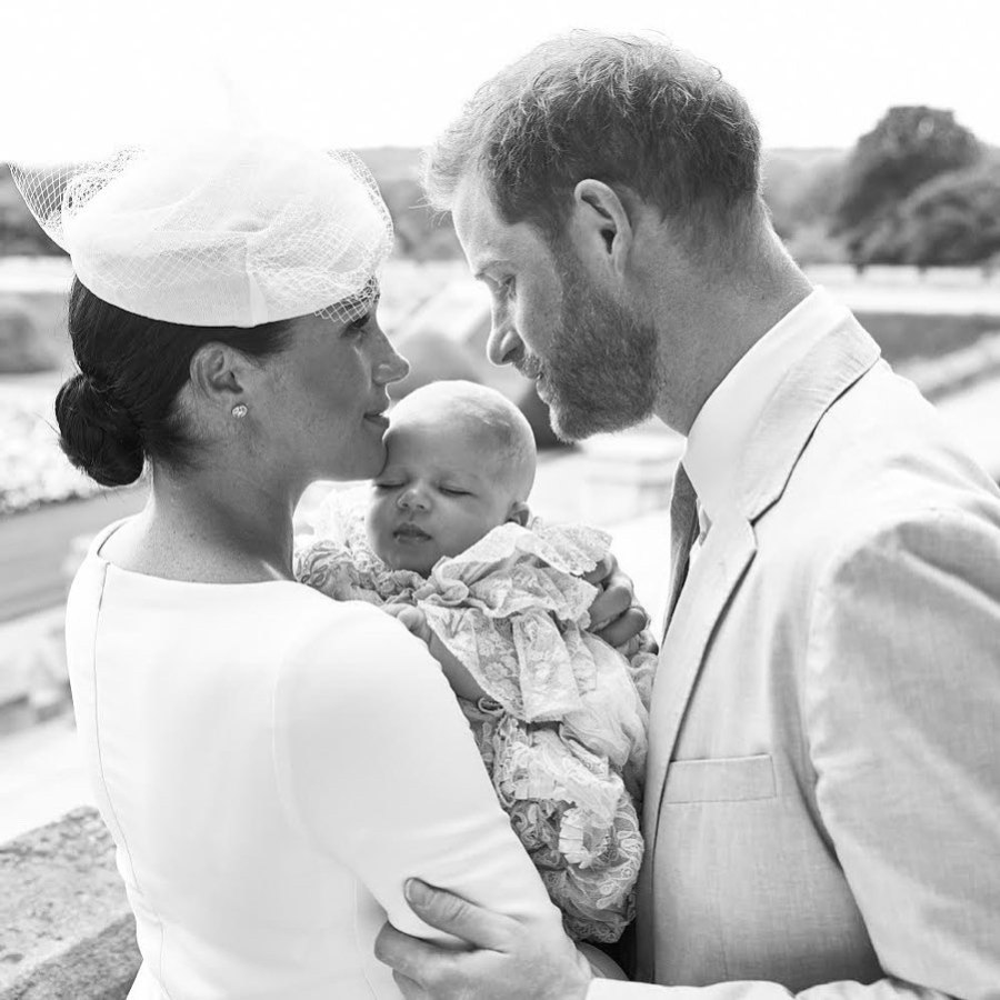 Prince Harry and Duchess Meghan Release Adorable Family Portraits From Son Archie's Christening