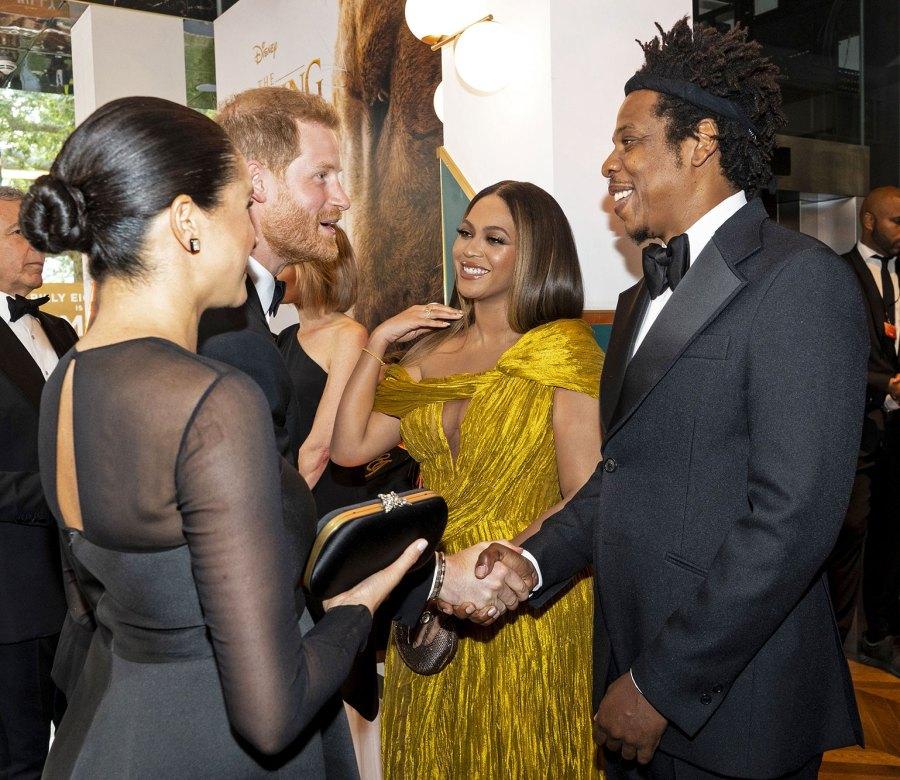 Prince Harry and Meghan, Beyoncé, Jay-Z Lion King Premiere
