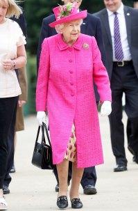 Queen Elizabeth Fuschia Dress July 9, 2019
