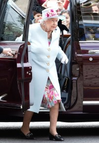 Queen Elizabeth Pale Blue Coat June 30, 2019
