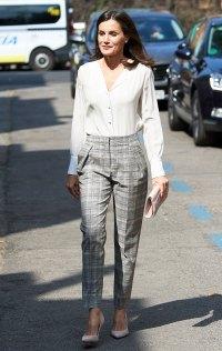 Queen Letizia Plaid Trousers July 1, 2019