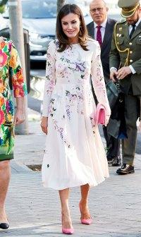 Queen Letizia Floral Asos Dress July 8, 2019