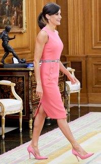 Queen Letizia Pink Dress July 23, 2019