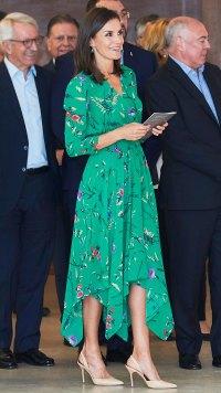 Queen Letizia Summer Green Dress July 25, 2019