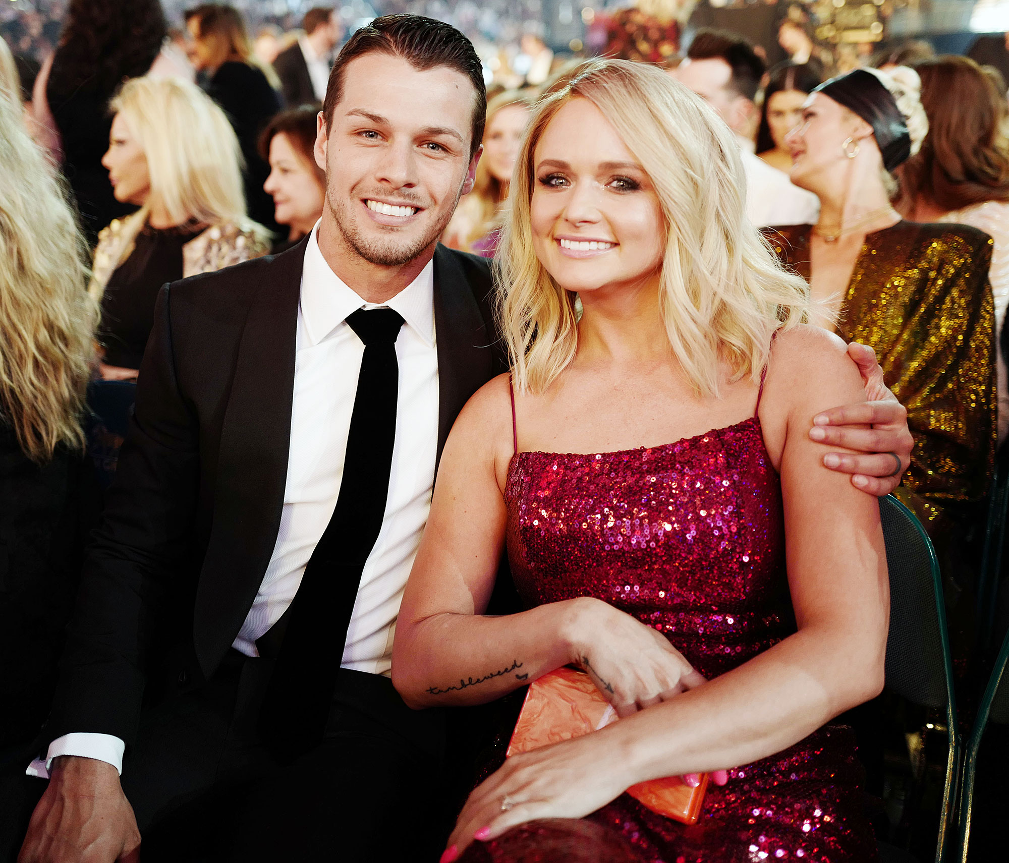Brendan McLoughlin and Miranda Lambert attend the 2019 bAcademy Of Country Music Awards Robin Roberts Says Brendan McLoughlin Is So Happy After Miranda Lambert