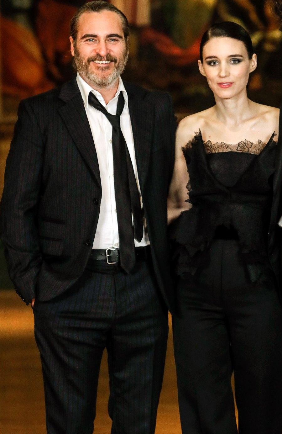 Rooney Mara Joaquin Phoenix celebrity engagements 2019