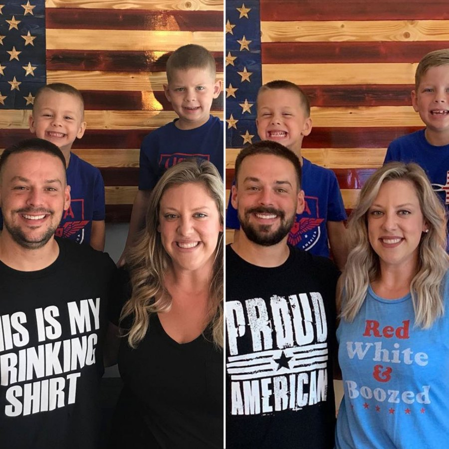 Briana and Ryan Culberson Weight Loss Family Picture American Flag