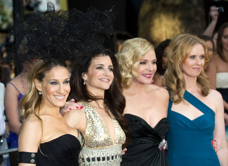 Sarah Jessica Parker, Kristin Davis, Kim Catrall and Cynthia Nixon Sex in the City Costars