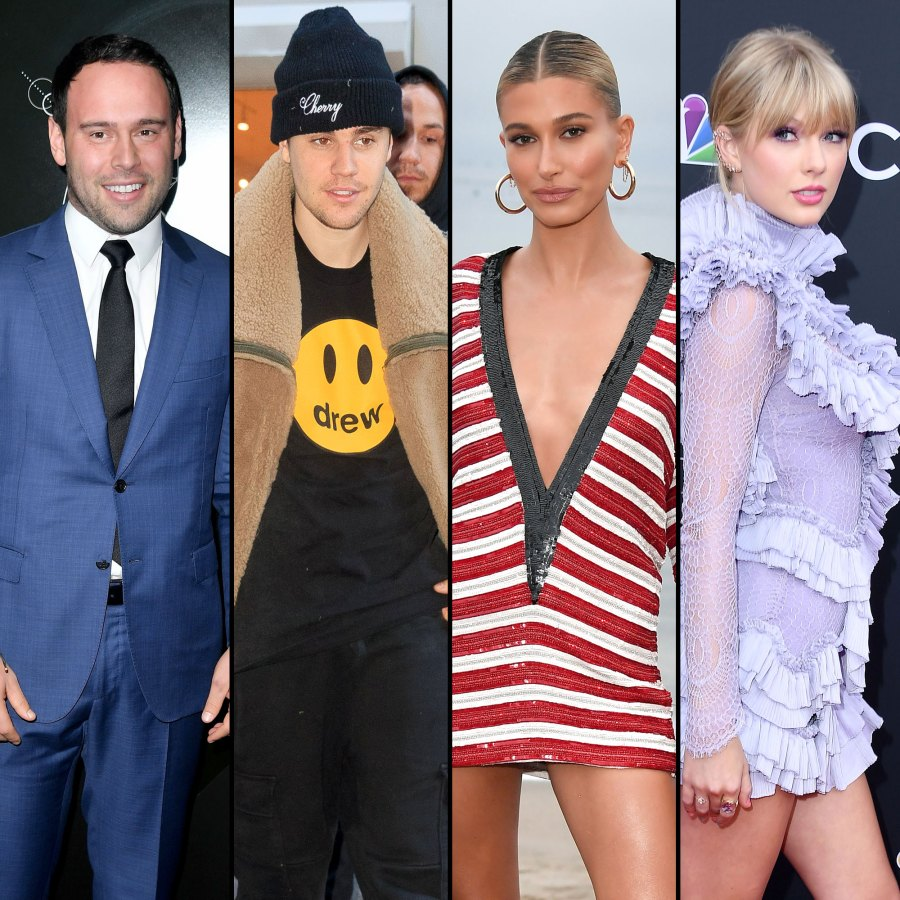 Scooter Braun Justin Bieber and Hailey Baldwin, Taylor Swift Drama