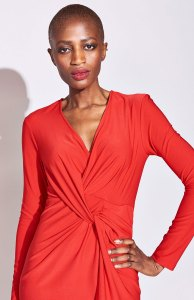 Red Twist Front Dress for Every Body Type by Serena Williams