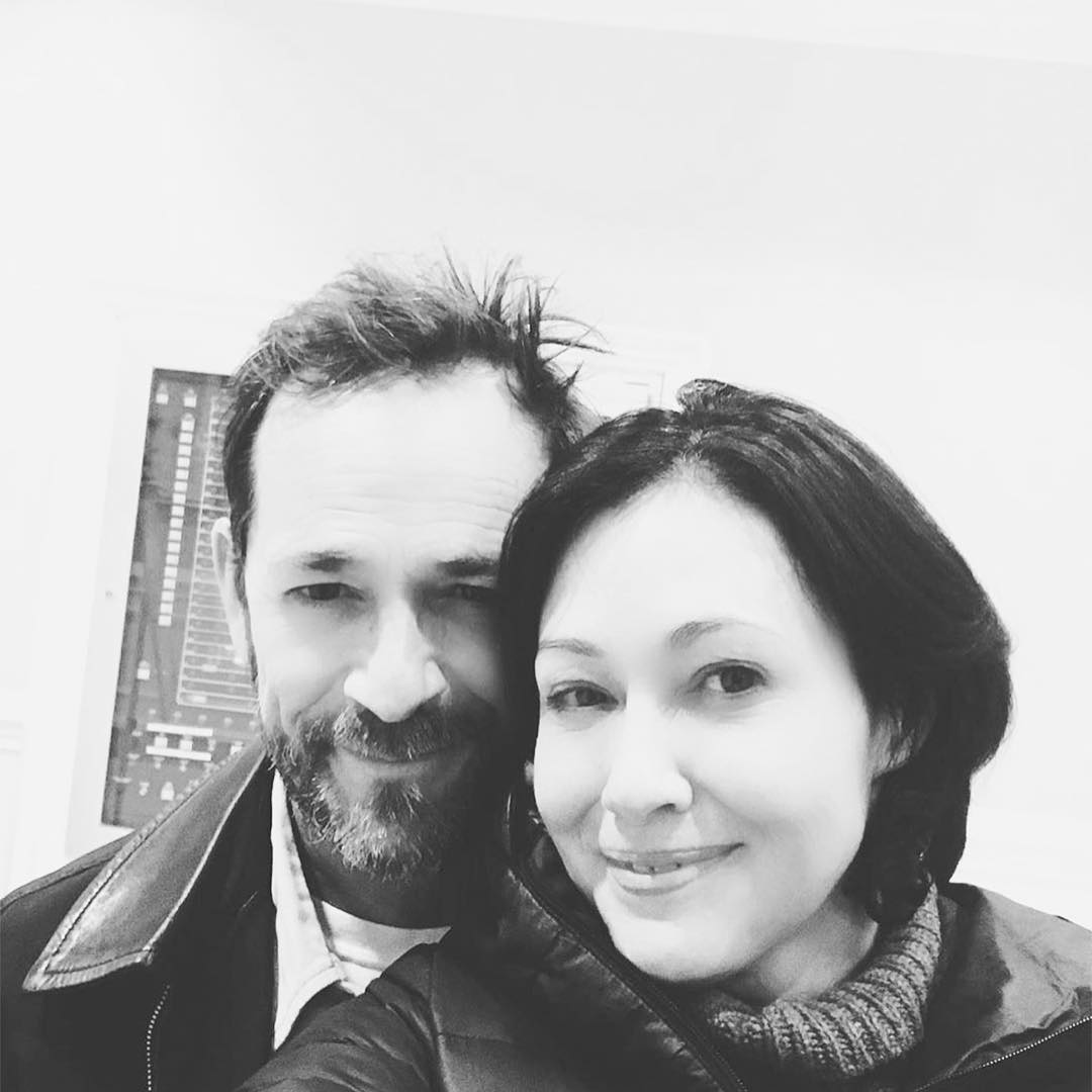 Shannen Doherty Starring in Riverdale's Luke Perry Tribute in 'Super Emotional' Role Instagram Selfie - Luke Perry and Shannen Doherty