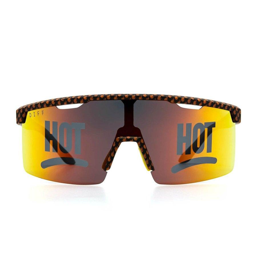 Taco Bell Sunglasses Line - Black Taco Bell Flames + Lava Hot Polarized Lens