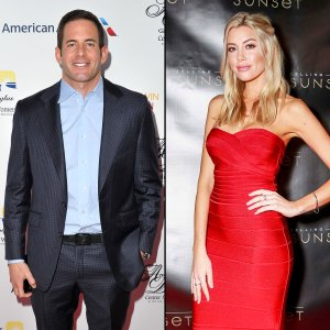 Tarek El Moussa Suit No Tie Very Into Heather Rae Young Long Tight Red Dress