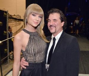 Young Taylor Swift and Scott Borchetta