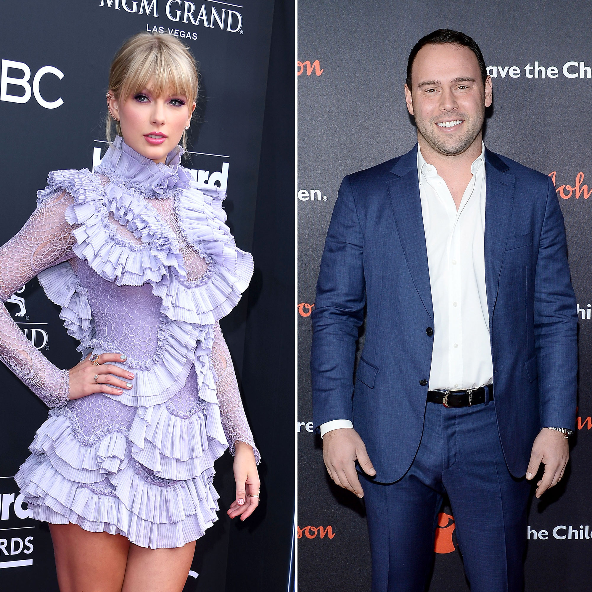 "Taylor Swift and Scooter Braun Feud - The ""ME!"" singer slammed the popular manager in a lengthy Tumblr post in June 2019 after he bought her former label, Big Machine Records, and subsequently acquired her masters. Swift claimed she's been the victim of ""incessant manipulative bullying"" from Braun and his clients, including Justin Bieber and West."
