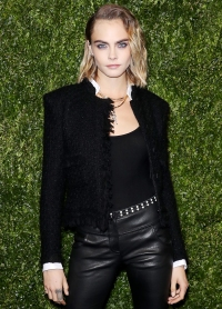 Cara Delevingne at Chanel Hosts Annual Tribeca Film Festival Artists Dinner Taylor Swift vs Scooter Braun
