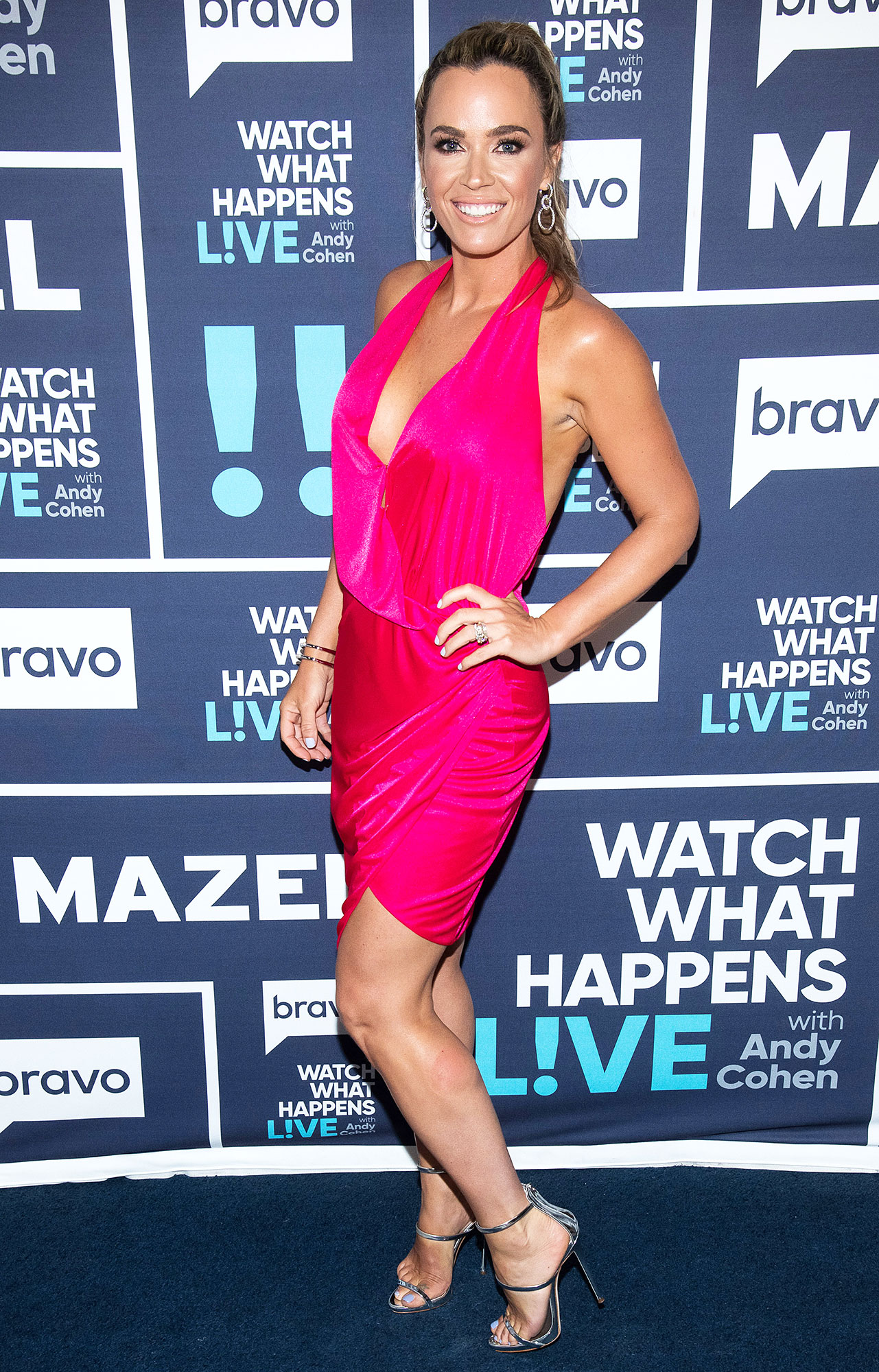Teddi Mellencamp Wearing a Pink Dress on Watch What Happens Live Wtih Andy Cohen Body Transformation