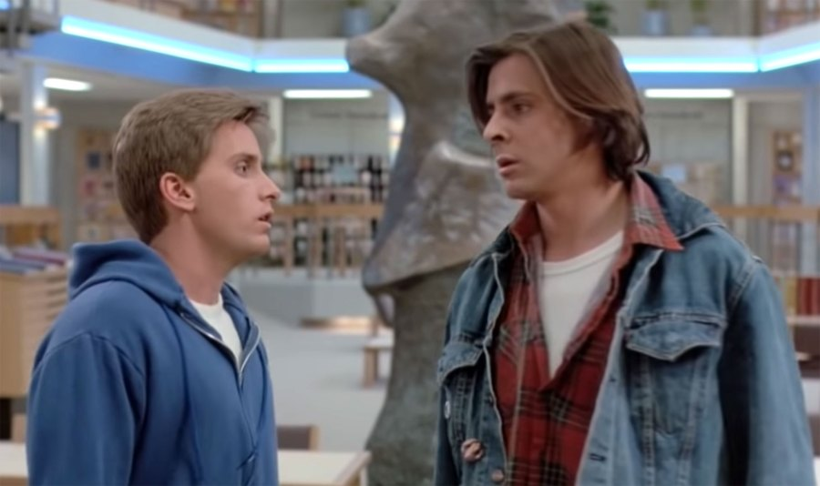 Emilio Estevez and Judd Nelson The Breakfast Club