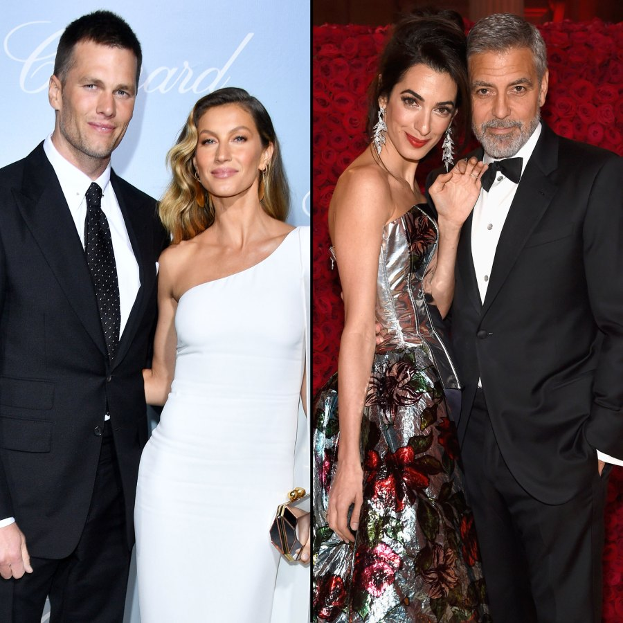 Tom Brady and Gisele Bündchen Amal Clooney and George Clooney Multiple Wedding Ceremonies