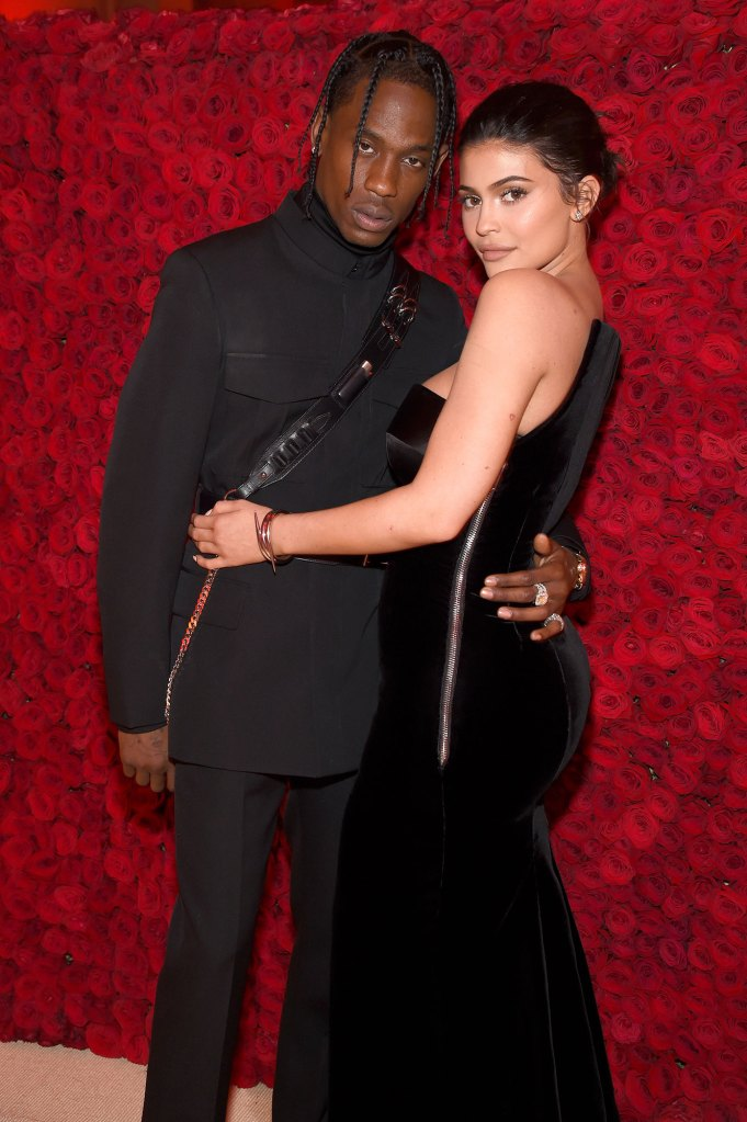 Travis Scott and Kylie Jenner Red Rose Wall