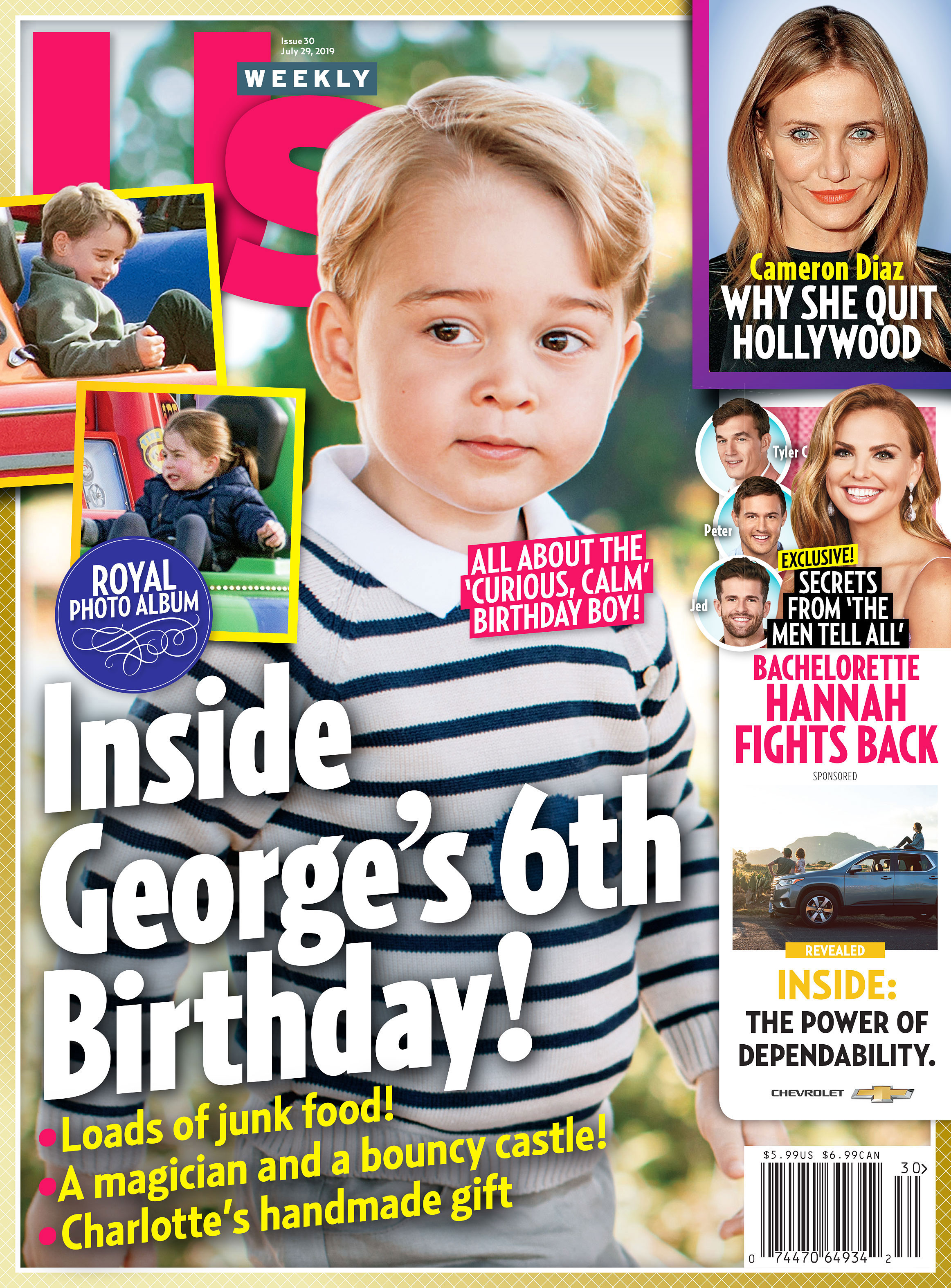 Us Weekly 3019 Prince George Birthday Annette Roque and Matt Lauer Divorce Settlement
