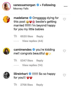 Vanessa Morgan Engaged Twitter Reactions