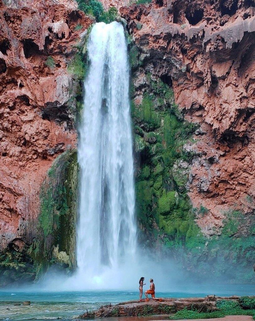Vanessa Morgan and Michael Kopech Engaged Under Waterfall
