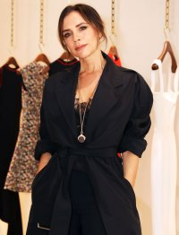 Victoria Beckham Black Coat March 08, 2019