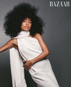 Yara Shahidi Unretouched Harper's Bazaar