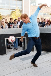 celebrities playing soccer
