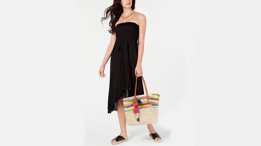 raviya strapless high-low dress