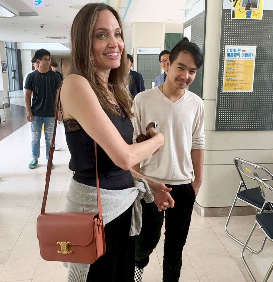Angelina Jolie and Maddox Jolie-Pitt's First Day at College