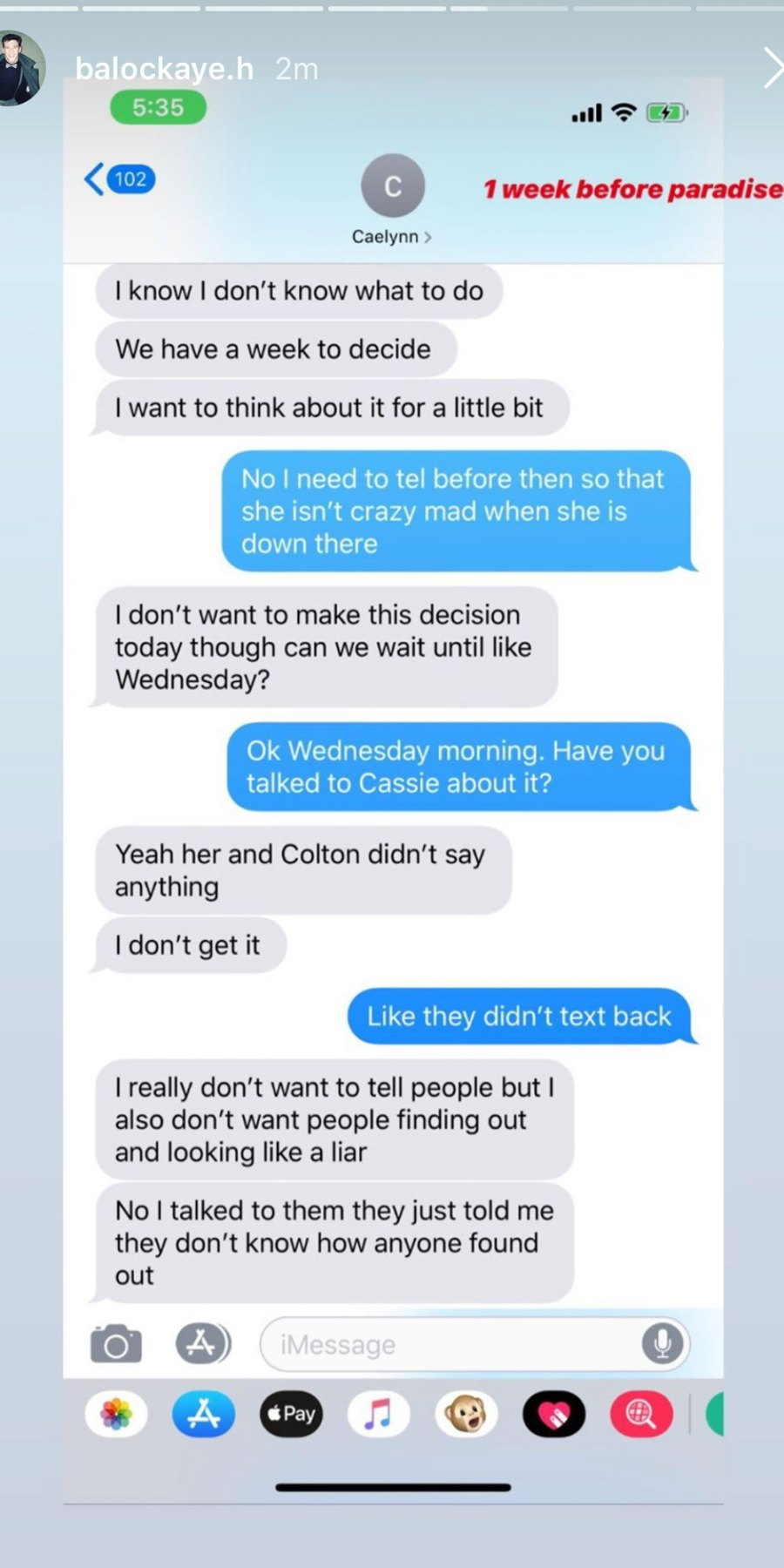 Bachelor in Paradise's Blake Horstmann Releases His Texts With Caelynn Miller-Keyes From the Night They Had Sex