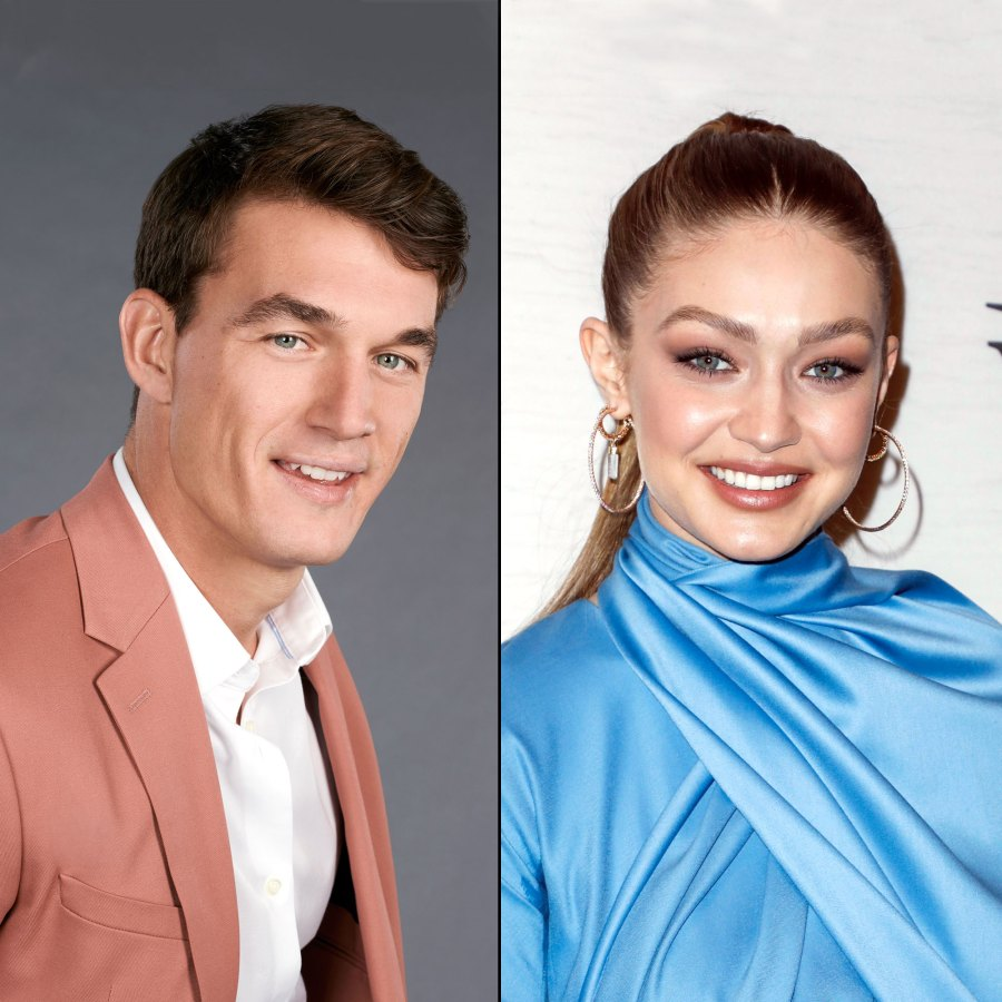 Bachelorette's Tyler Cameron and Gigi Hadid 'Looked Flirty' During Bowling Date