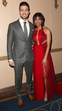Bryan Abasolo and Rachel Lindsay Red Dress Bachelor Party