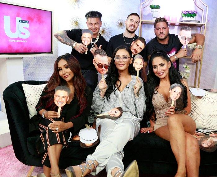 Cast of Jersey Shore US Weekly In Studio Shoot