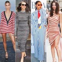 Celebs Wearing Stripes