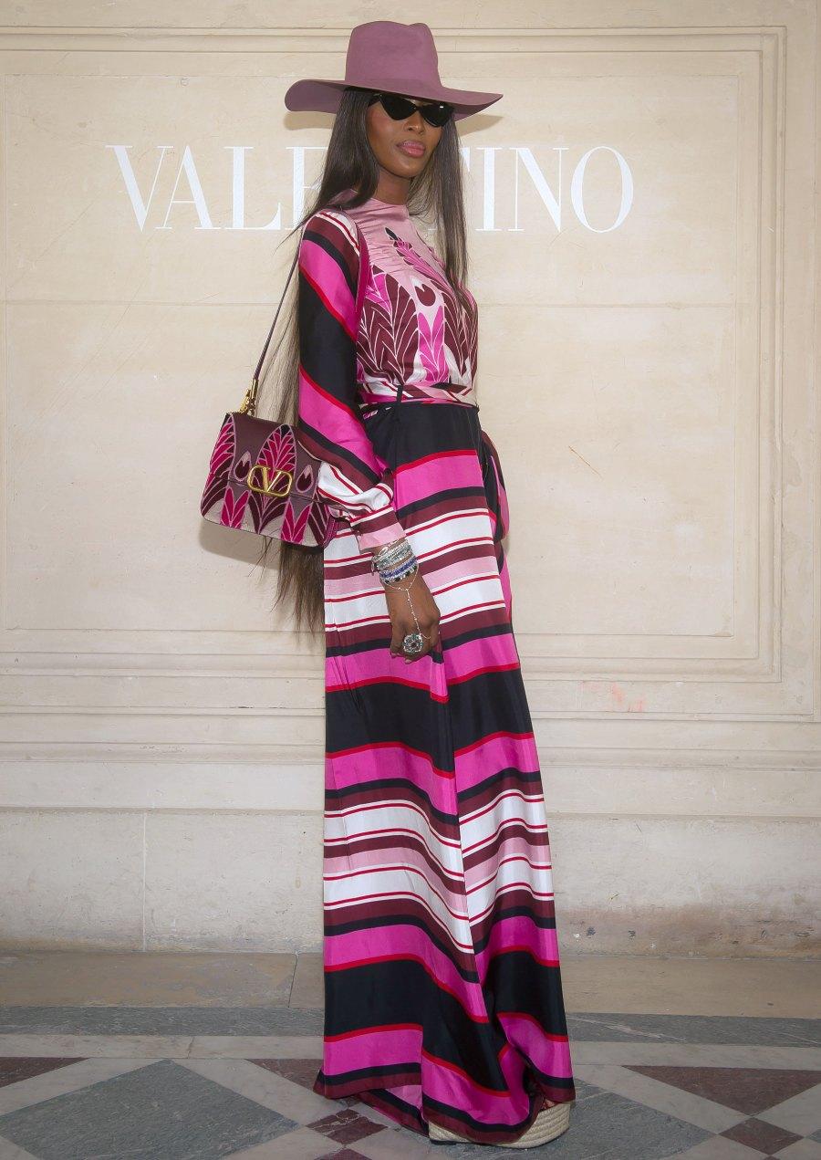 Celebs Wearing Stripes - Naomi Campbell July 3, 2019