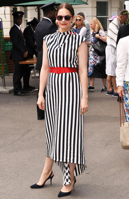 Celebs Wearing Stripes - Ruth Wilson July 9, 2019