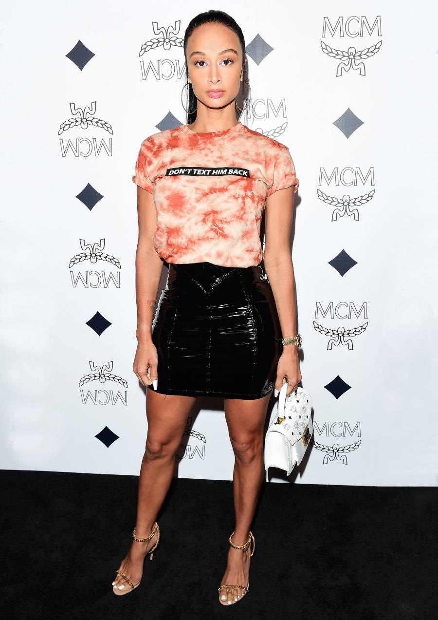 Celebs Wearing Tie-Dye - Draya Michele March 14, 2019