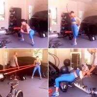 Khloe Kardashian Workout in Her Home Garage Gym Is Pretty Spectacular