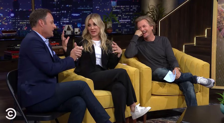 Chris Harrison, Kaley Cuoco, David Spade Lights Out With David Spade Condoms