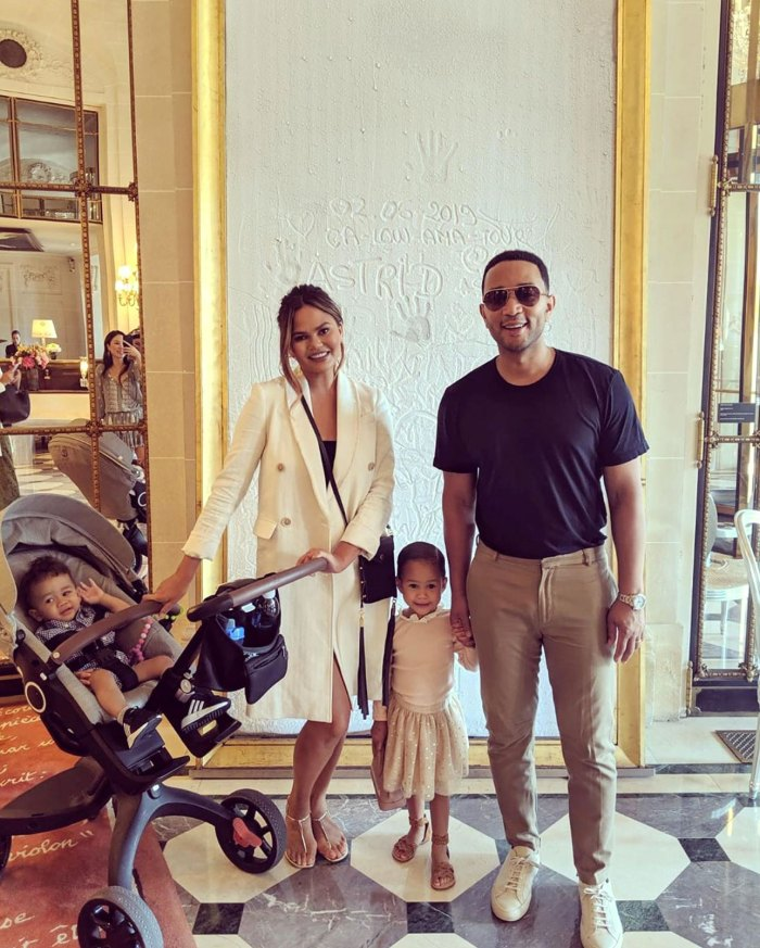Chrissy Teigen 25 Things You Don't Know Family Photo With John Legend, Luna and Miles