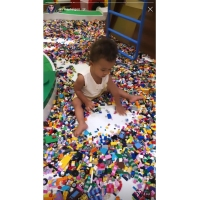 Chrissy Teigen Son Miles Plays With Legos