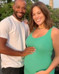Cutest Celebrity Baby Announcements Ashley Graham and Justin Ervin