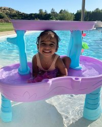 Dream Kardashian in a Swimming Pool Instagram Photo