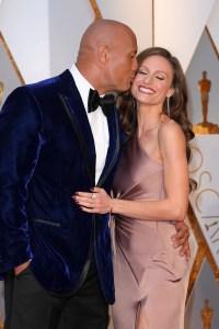 Dwayne Johnson Kisses Lauren Hashian