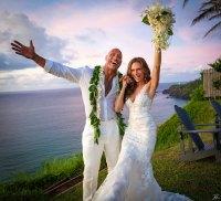 Dwayne Johnson Marries Lauren Hashian High Res Hawaii Celebrate Celeb Gallery